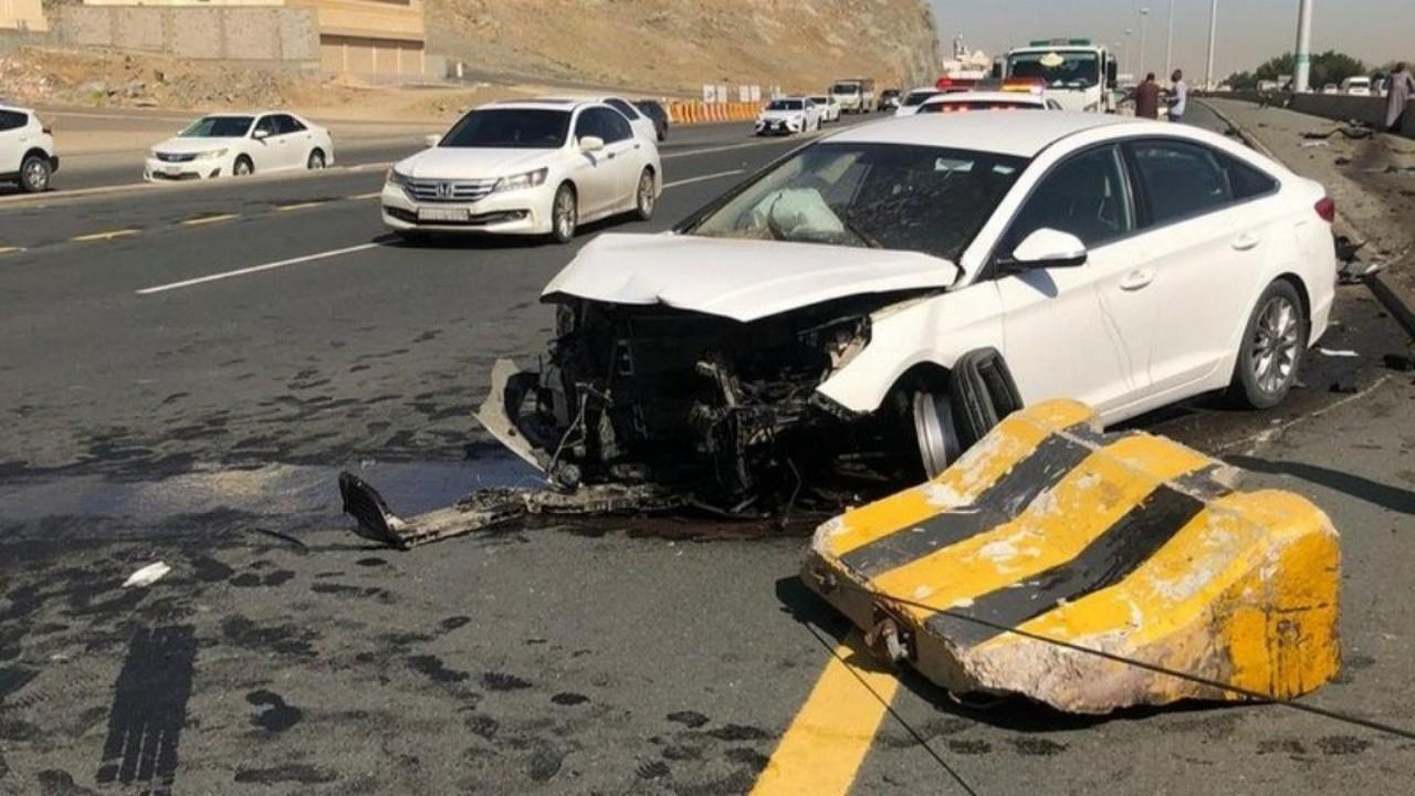 وقوع إصابات في حادثين مروريين بمكة المكرمة