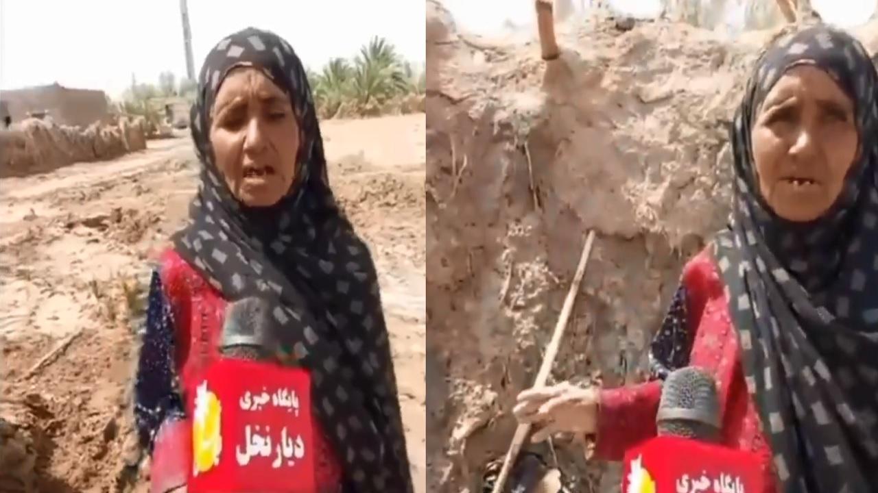 بالفيديو.. مسنة إيرانية تستغيث: خامنئي لا يرى الظلم في ايران المهم صواريخه تصل إلى الحوثي