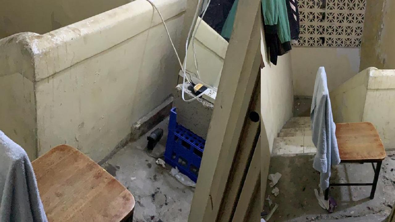 هروب عامل حوّل أحد ممرات بناية إلى صالون حلاقة بالدمام (صور)