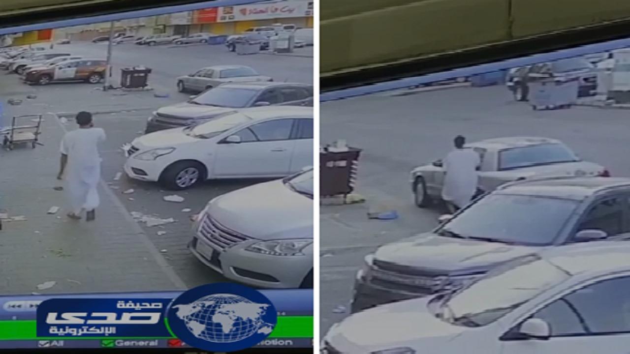 بالفيديو القبض على سارق مركبة بمكة المكرمة