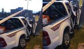 إصابة شخصين في حادث تصادم بالباحة