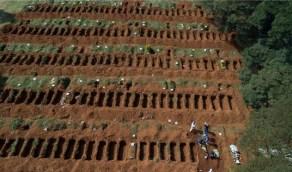 بالصور.. أكبر مقبرة تستقبل ضحايا الوباء العالمي