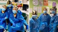 بالصورة.. إصابة 3 ممرضات بالوباء بعد ارتدائهم زي واقي من أكياس القمامة