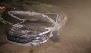 إنقاذ مصابي حادث مروري مفاجئ في جازان (صور)