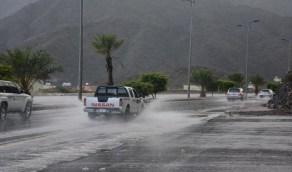 """""""مدني نجران"""" يدعو لأخذ الحيطة والحذر نتيجة لاستمرار هطول الأمطار على المنطقة"""