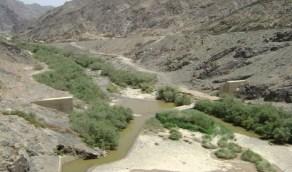 بالفيديو.. سريان المياه في وادي نجران