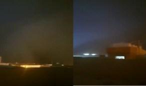 بالفيديو.. عاصفة ترابية جدارية تقتحم أجواء حفر الباطن