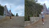 بالفيديو..رونالدو وشريكته يتدربان أثناء العزل المنزلي