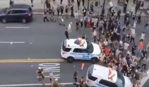 شاهد.. لقطات مروعة من تظاهرات أمريكا ما بين الدهس وإطلاق الرصاص الحي