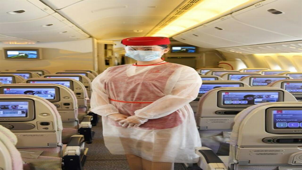 """شاهد.. الإجراءات الوقائية من كورونا التي اتخذتها """" طيران الإمارات """""""