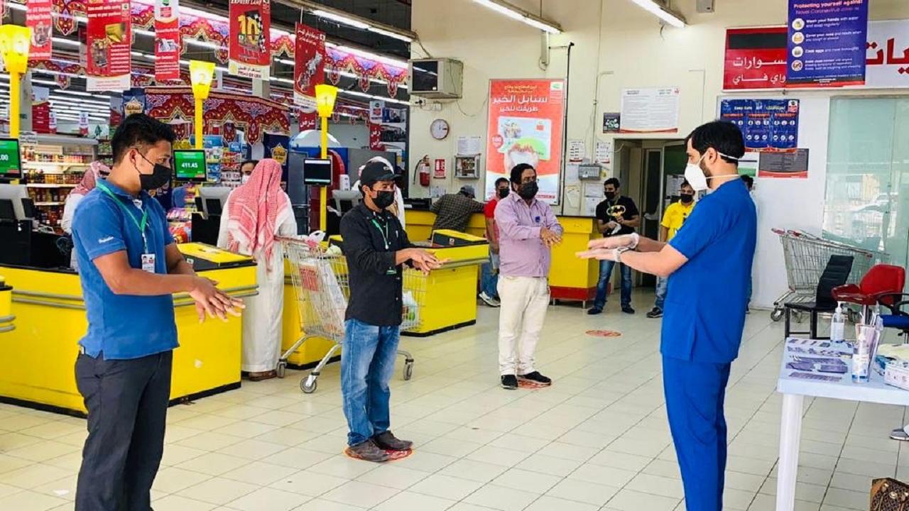 صحة حفر الباطن تكثف حملاتها التوعوية في المجمعات التجارية للوقاية من فيروس «كورونا»