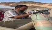 بالفيديو.. الجيش اليمني يسقط مسيرة حوثية مفخخة في الجوف