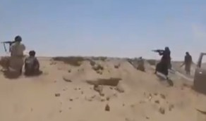 بالفيديو.. لحظة هروب الحوثيين من ضربات القوات المسلحة اليمنية