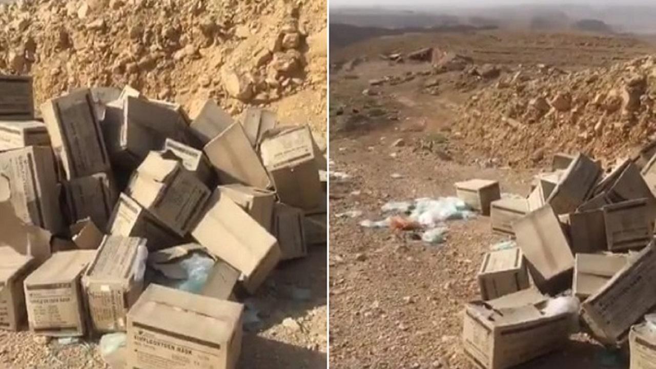 فيديو لكمية كبيرة من المستلزمات الطبية ملقاة على طريق ديراب وأمانة الرياض تتفاعل