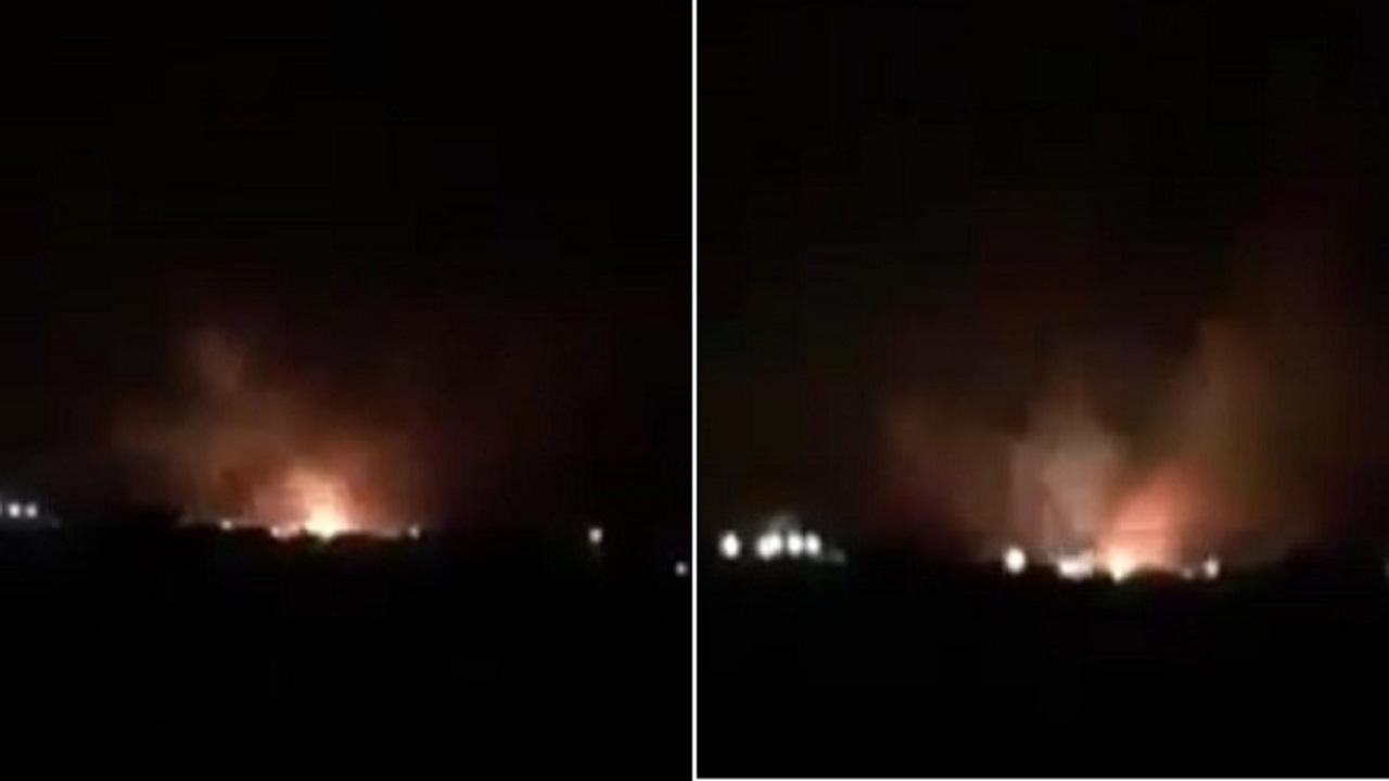 بالفيديو.. لحظة انفجار مخازن أسلحة في شُقرة قبل حشدها ضد الجنوب