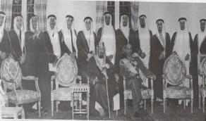 صورة نادرة للملك عبد العزيز وملك أفغانستان في الرياض