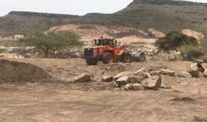 استعادة 31 ألف متر لأراضي حكومية في عسير
