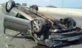 إصابة قائد مركبة عقب انقلابها على طريق «رنية - الخرمة»