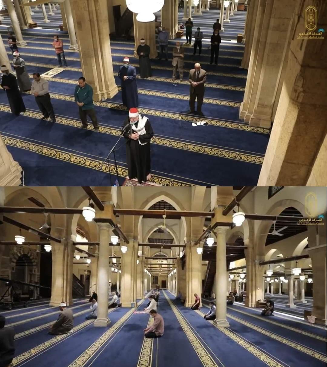 أول صلاة تراويح لرمضان بالجامع الأزهر الشريف