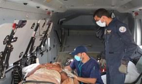 طيران الأمن ينقذ مسنّاً تعرض لإصابة بالظهر بالمدينة المنورة (صور)