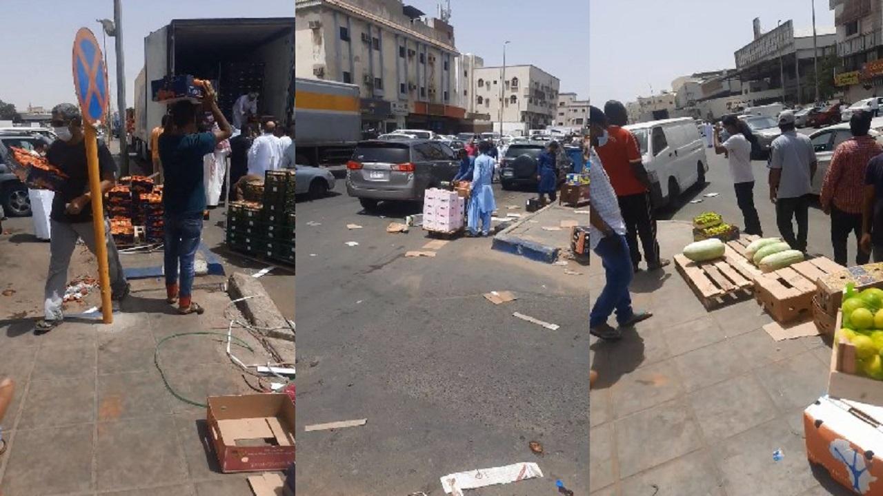 مواطن يشكو أمانة جدة: «الأجانب يحاربوننا في سوق الخضار أمام أعينهم» (فيديو)