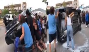 الهمجية تسيطر على تظاهرات أمريكا ضد العنصرية (فيديو)