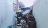 إصابة مقيم وطفلين في حريق بمنزل بنجران