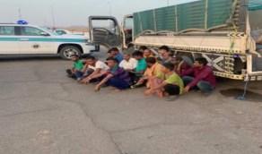 بالصور.. إحباط تهريب عمالة مخالفة عبر شاحنة بالمدينة المنورة