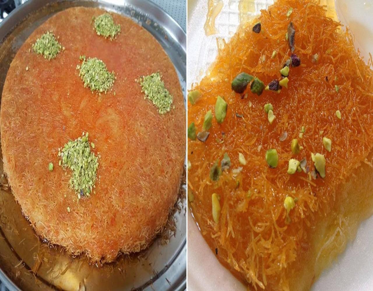 """""""الكنافة"""" طبق الحلوى الحاضر على مائدة الإفطار العربية"""