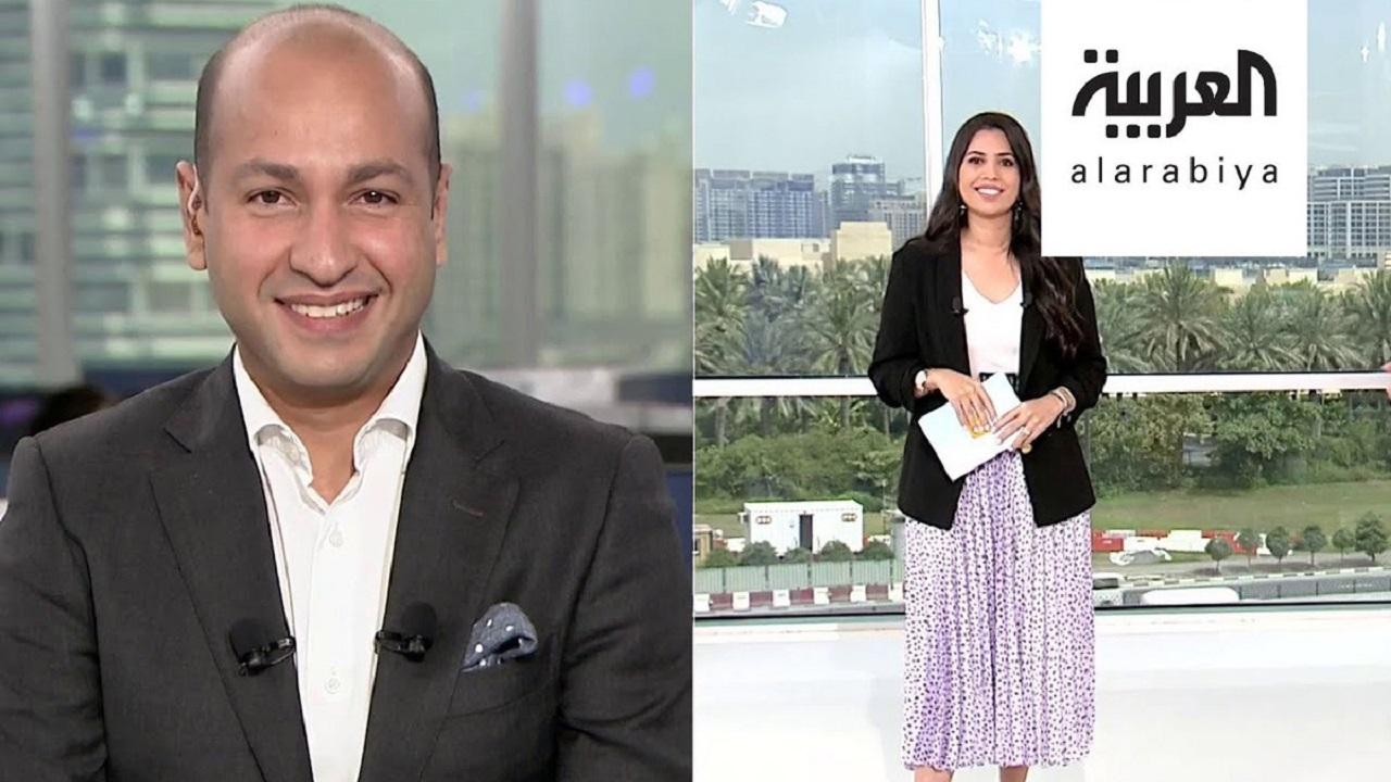 بالفيديو..مذيع قناة العربية يغازل زوجته على الهواء