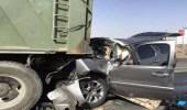 اصطدام مركبة بشاحنة في جدة