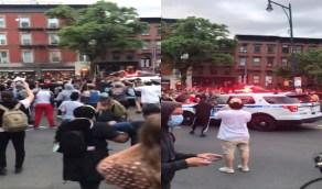بالفيديو..سيارات الشرطة الأمريكية تدهس المتظاهرين في احتجاجات مقتل جورج فلويد
