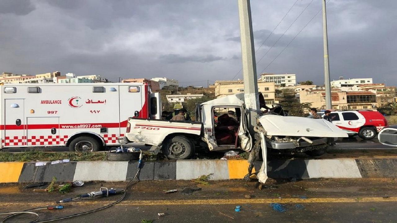 إصابتان في حادث تصادم بالباحة
