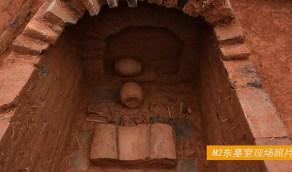 بالصور.. العثور على مقبرة نادرة تضم زوجين
