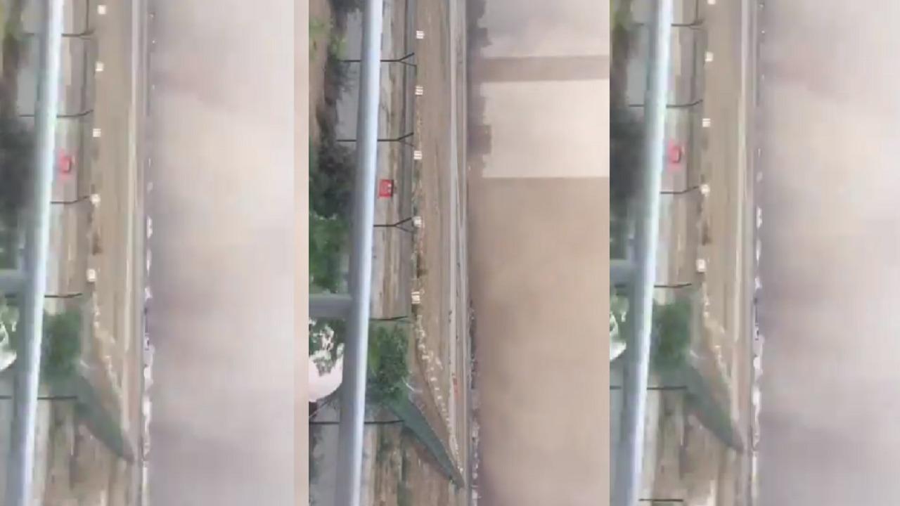 شاهد.. لحظة وصول العاصفة إلى مطار الملك عبدالله بن عبدالعزيز بجازان