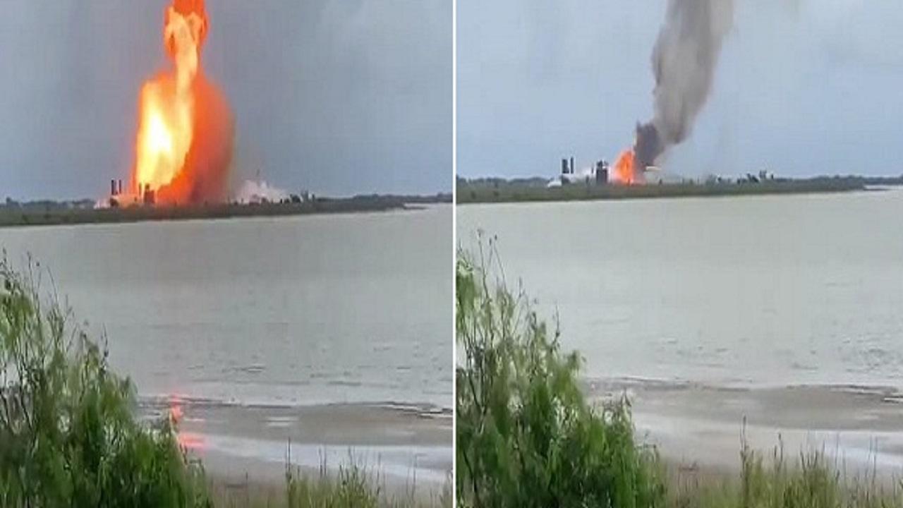 بالفيديو.. لحظة انفجار صاروخ أمريكي أثناء تجربة إطلاقه