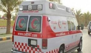 اصطدام مركبة بحاجز خرساني في بحرة