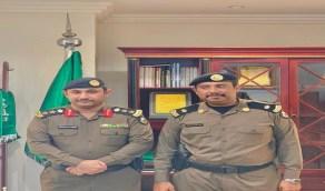 مدير شرطة القنفذة يقلد عبده الحسن الدرهمي رتبة رائد