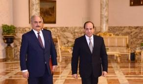 """""""السيسي"""" يعلن اتفاق """"حفتر"""" و """"صالح"""" على مبادرة لإنهاء الصراع الليبي"""