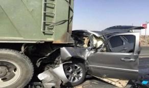 إصابة شخصين في حادث اصطدام مركبة وشاحنة على طريق «الطائف - ميسان»