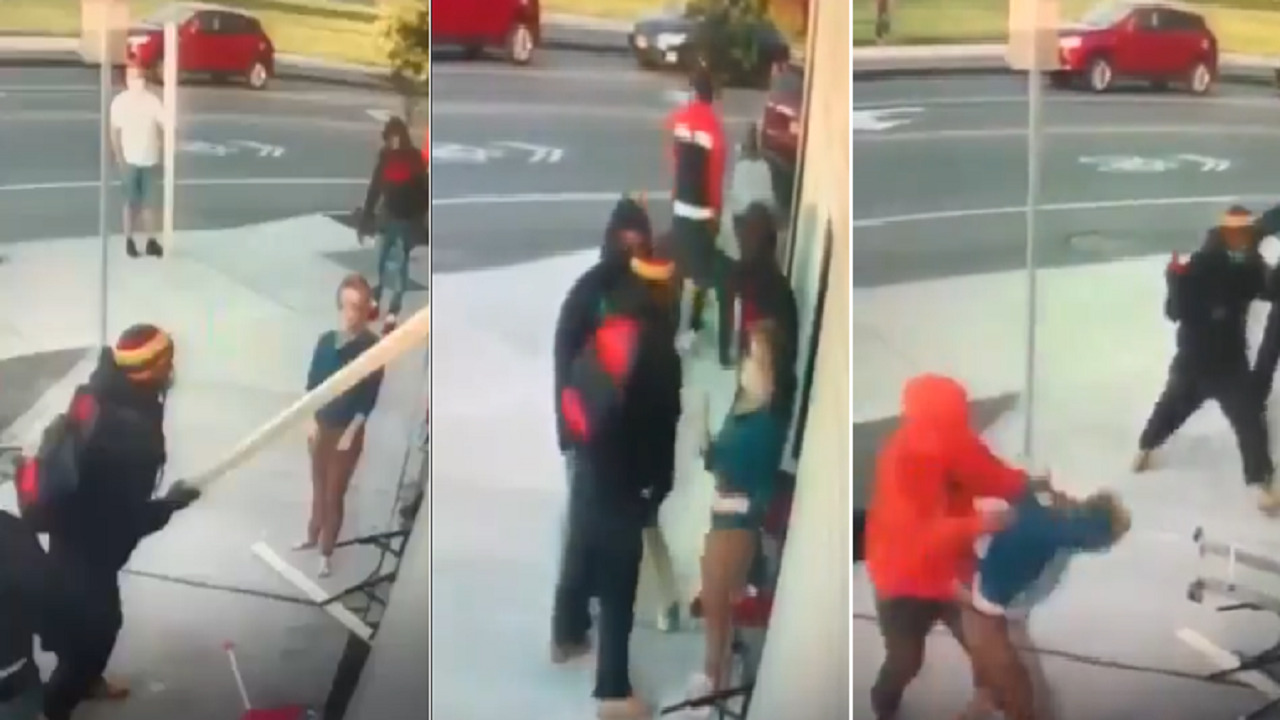 بالفيديو.. امرأة تتعرض للضرب المبرح أثناء محاولتها منع تخريب أحد المتاجر
