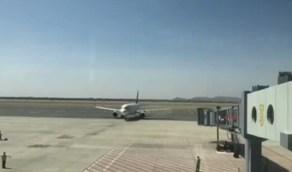 بالفيديو.. وصول أولى الرحلات الجوية إلى مطار نجران الإقليمي