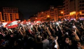 """بالفيديو.."""" لبنان ينتفض """" للمطالبة بنزع سلاح ميليشيا حزب الله"""