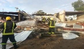 بالصور.. مليون ريال خسائر حريق مقهى بالطائف