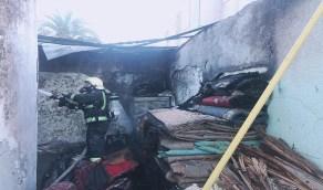 عاملة تضرم النيران في غرفة مواطنة مسنة معاقة بعسير