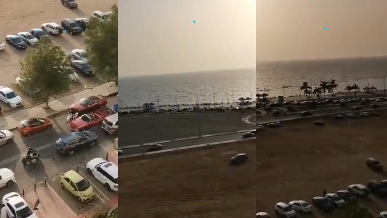 بالفيديو.. ازدحام هائل على كورنيش جدة قبل منع التجول