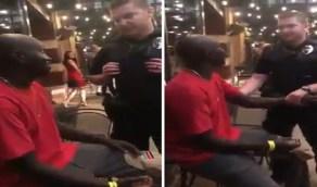 بالفيديو.. صدفة غير متوقعة تصدم رجال شرطة حاولوا القبض على رجل أسود