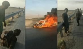 الأمن الإيراني يحرق عمالًا أفغان