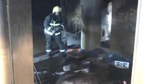 بالصور.. إصابة شخص في اندلاع حريق بسبب عبث الأطفال بالدمام