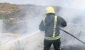 إخماد حريق في محافظة المندق